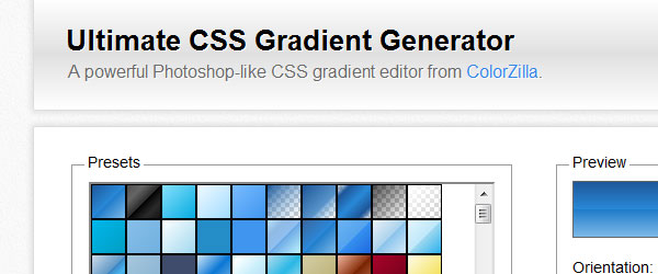 Ultimate CSS Gradient Generation