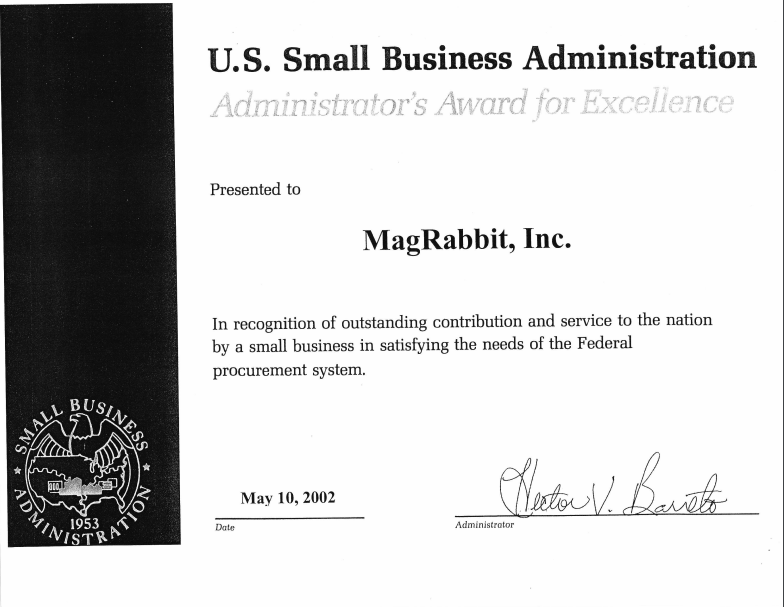 2002 Administrator's Award for Excellence